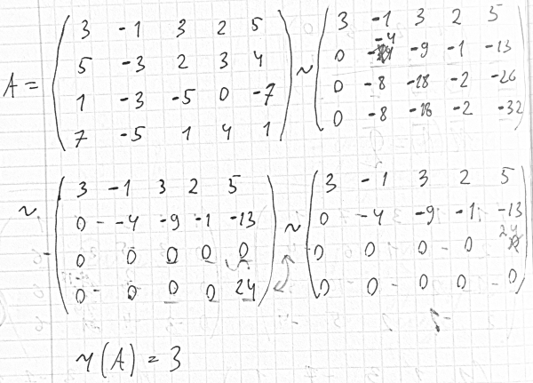 Решение задач на ранг матрицы задачи в excel с решением и диаграммой