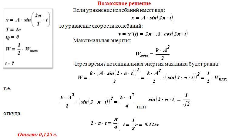 Решение задач по пружинному маятнику как решить задачу велосипедист и мотоциклист
