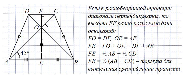 Решение задач с равнобедренной трапецией как решить задачу термодинамике