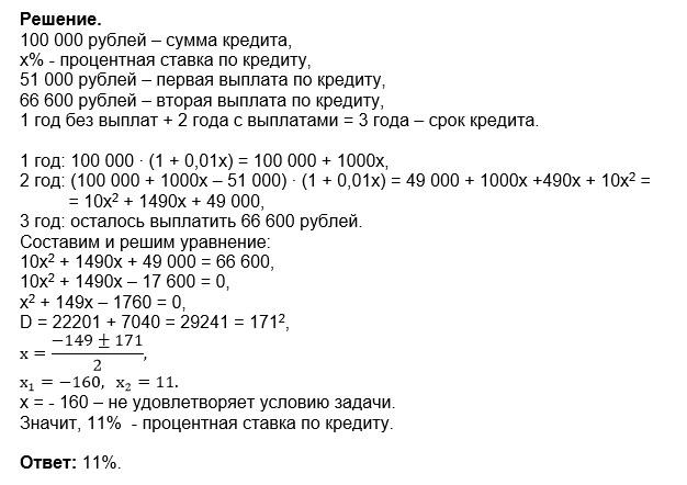 100 000 рублей на год кредит